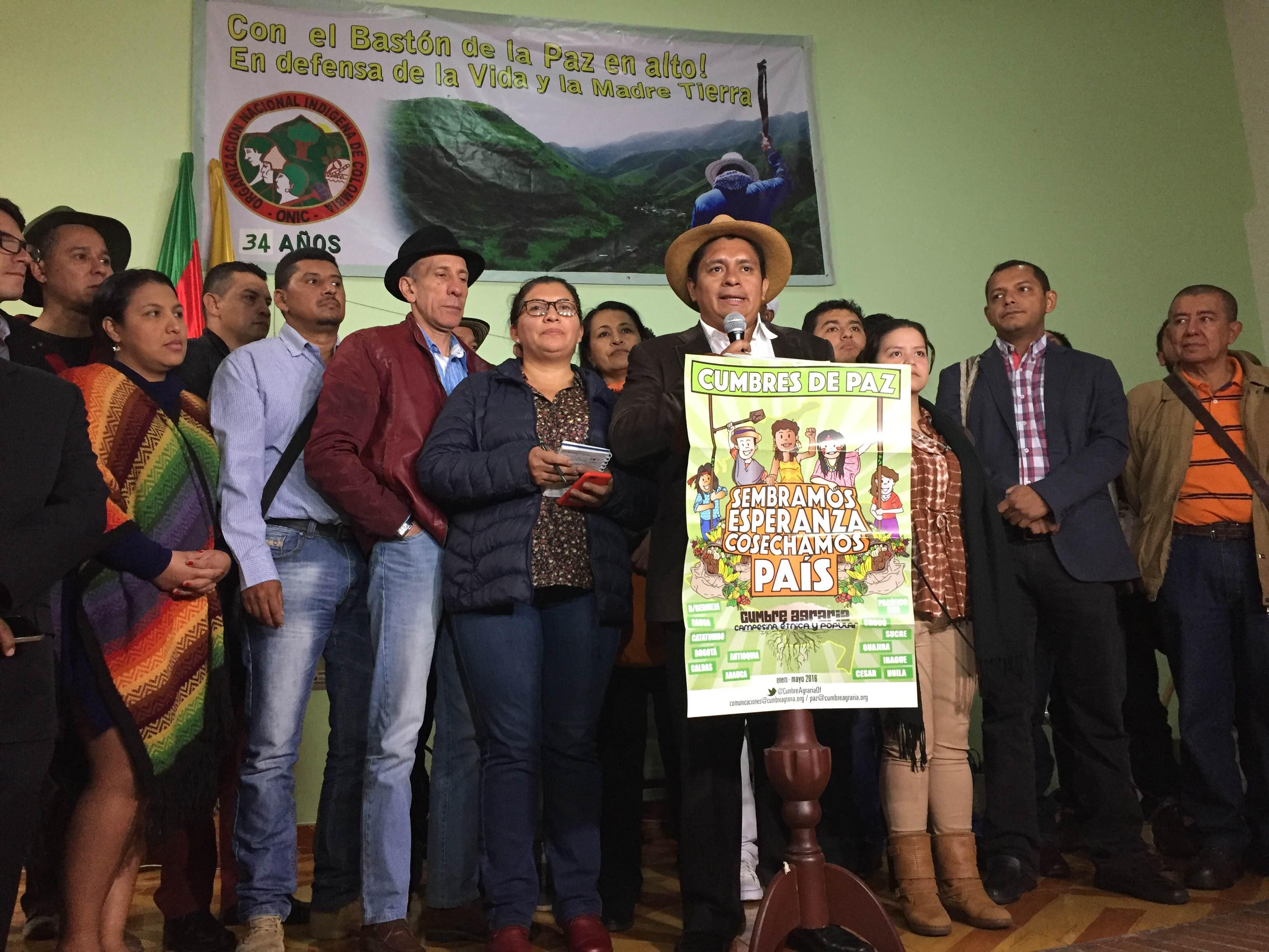 Minga Nacional Agraria exige trato político y no militar y represivo