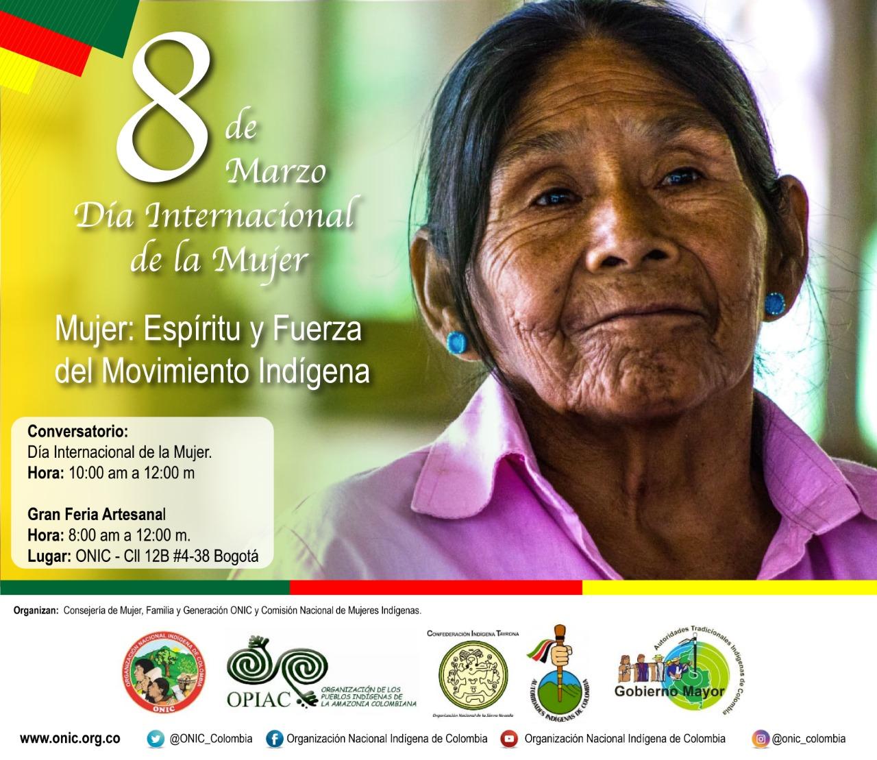 Convocatoria de ONIC para el conversatorio en el marco del Día Internacional de la Mujer